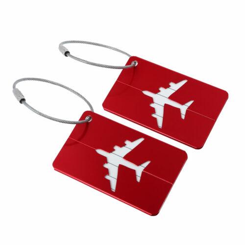 Métal Voyage Bagages Balises bagages Identificateur de Valise Bagages Nom Adresse étiquette