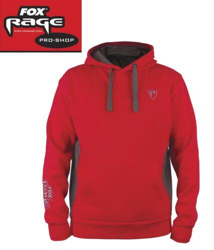 Angelpulli Kapuzenpullover für Angler Fox Rage Red/Grey Ribbed Hoody Pullover