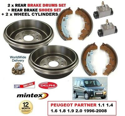 PEUGEOT PARTNER 2.0 HDI REAR HAND BRAKE HANDBRAKE SHOES 2000
