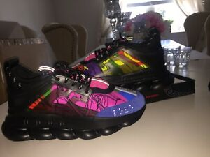 Details about Versace Chain Reaction Sneakers US Men's Size 8.5 | New |  LIMITED EDITION COLOR