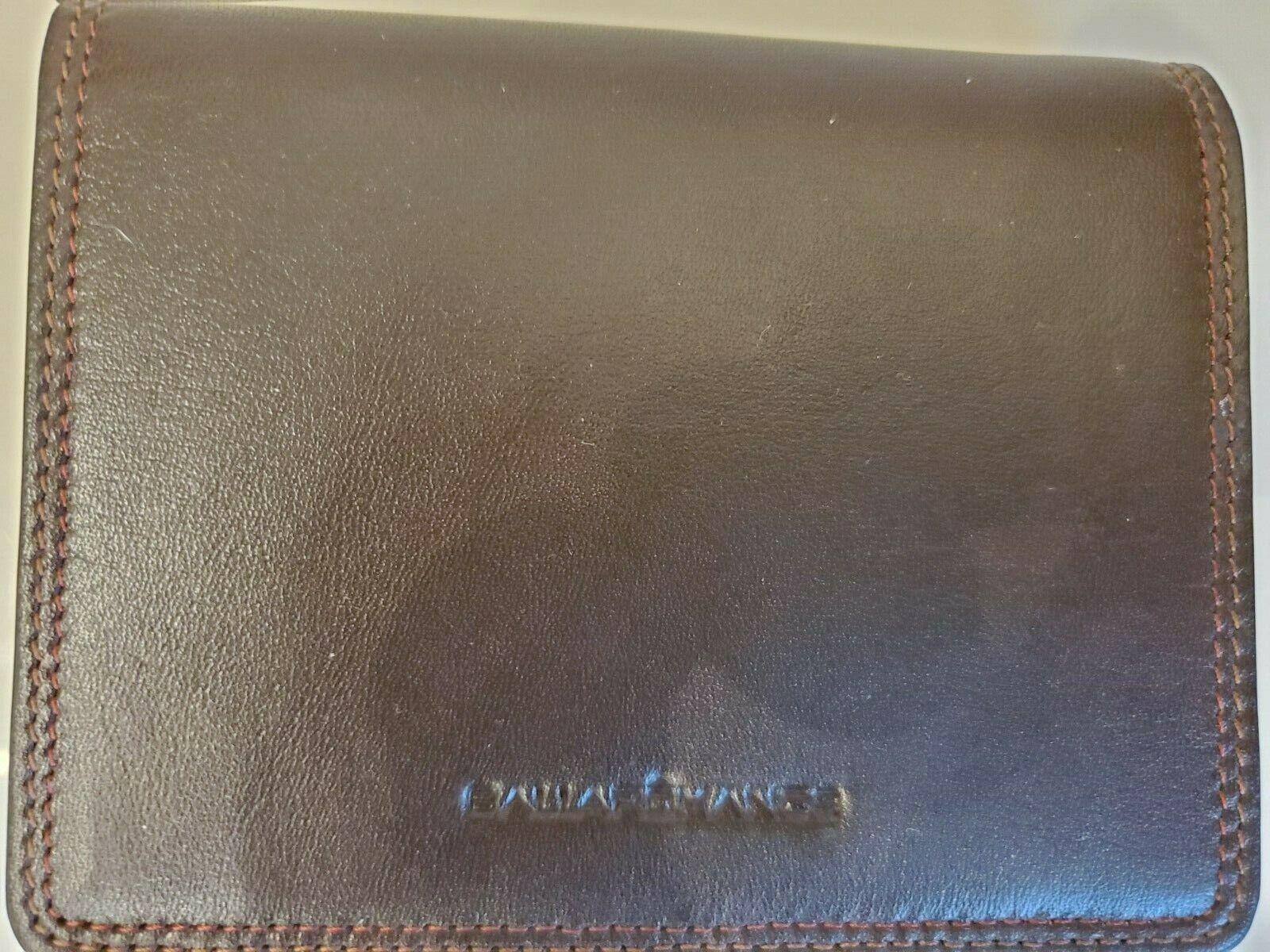New BellaRomance Mens Brown Leather Bifold Wallet