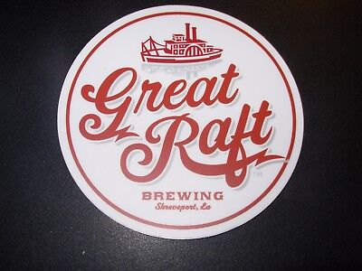 GREAT RAFT BREWING Commotion Shreveport LA STICKER decal craft beer brewery