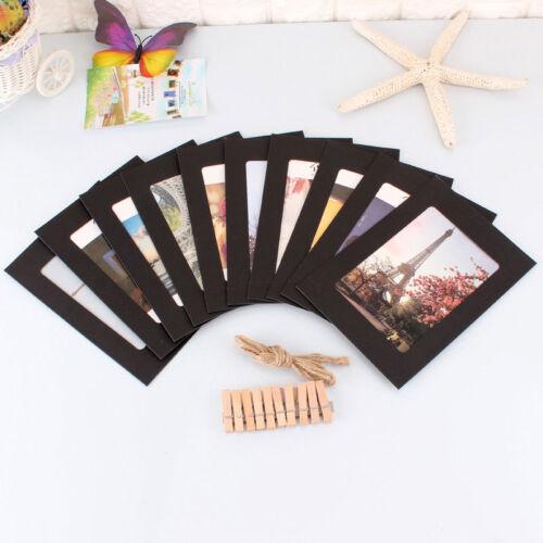 10pc 3//5//6//7inch Wimpelkette Wimpelgirlande Fotorahmen Kraftpapier mit Seil Clip