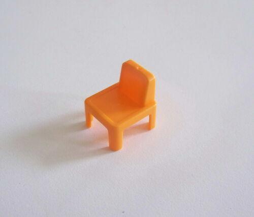 Chaise Orange d/'Ecolier Pupitre Chambre Enfants PLAYMOBIL R473 ECOLE