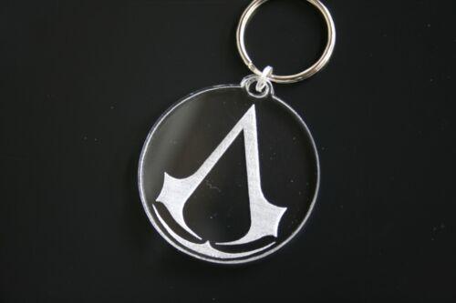Laser Engraved Acrylic Keyring Assassin/'s Creed Logo