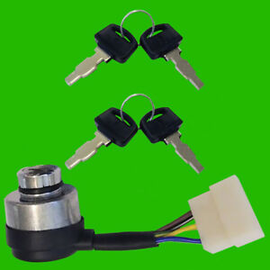 2 Ignition Switch Keys for Champion Power Equipment CPE 6 Wire Generator 3 Way