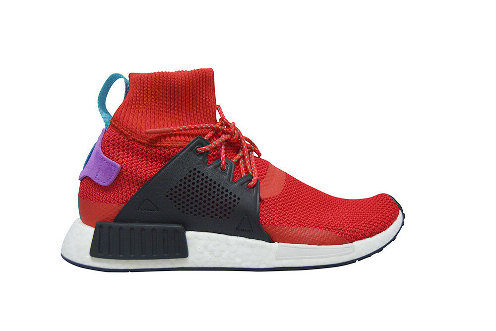 Mens Adidas NMD_XR1 Winter - BZ0632 - Red Black bluee Purple Trainers