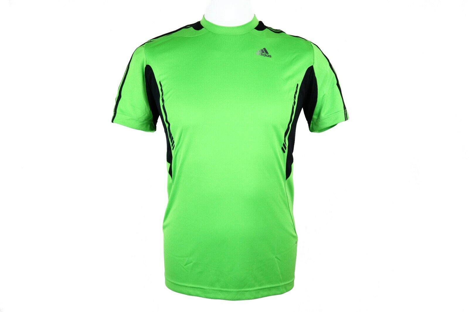 Details about Adidas Mens Green Climacool 365 Sports Polo Shirt Running Gym T Shirt Top New