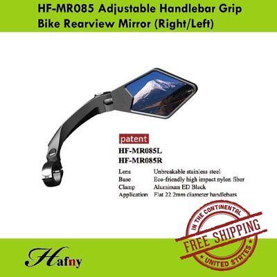 Hafny HF-MR085R 360º Adjustable Bicycle Handlebar Grip Rearview Mirror Right x