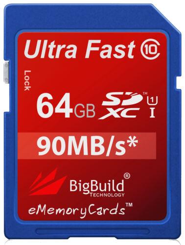 64GB Memory Card for Nikon D5000 D5100 SLR Camera SD SDHC SDXC Class 10