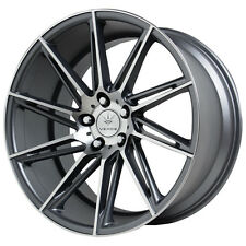 Staggered Verde Quantum Front:20X9,Rear:20X10.5 5x120 +35mm Graphite Wheels Rims
