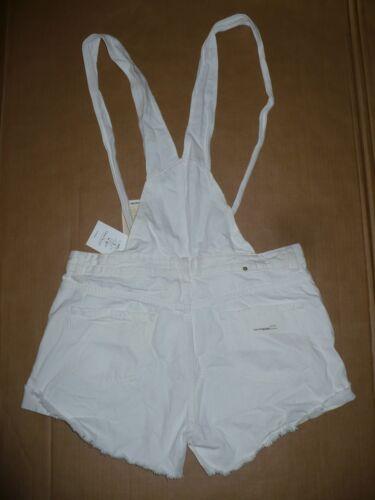 Denim a taglia corta Tuta 10 tasche Zara larga 5 bianca Nwt Salopette taglio con 1gFwxxz