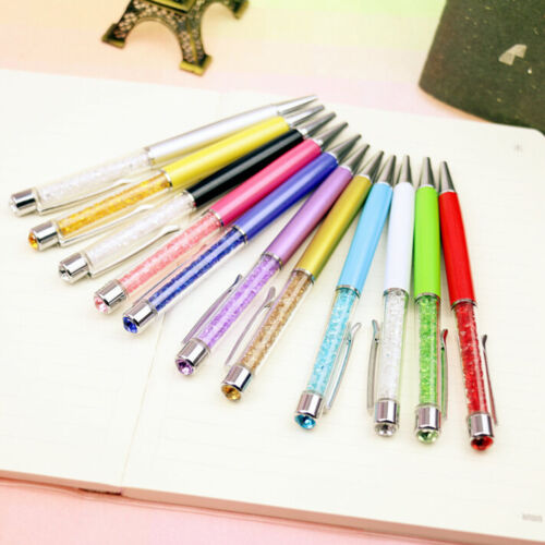 12pcs New Gift Ballpoint Pen bling Diamond Crystal Metal Pen  Student Office