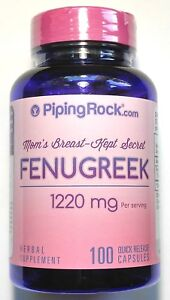 1220mg-Fenugreek-100-Capsules-Moms-Mothers-Natural-Breast-Milk-Herbal-Supplement