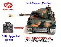 Heng Long Radio Remote Control R/c German Panther -- 2.4 Pro Version