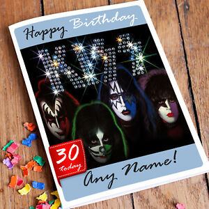 AC//DC Personalised Birthday CardFather Friend Classic Rock Any Name Any Age