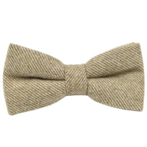 Brown Wool Mens Bow Tie// Brown Herringbone Bow Tie Wedding Bow Ties