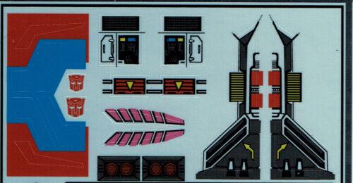 Transformers GENERATION 1 G1 Autobot QuickSwitch REPRO etichette