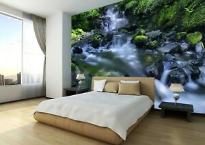 Camera Da Letto Rock : Waterfall nature rock tree sky photo wallpaper wall mural home