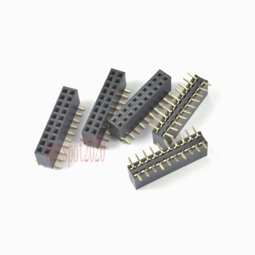 20pcs 2.54mm Pitch 2X10 20Pin Header Strip Double Row SMT//SMD Female PCB Board