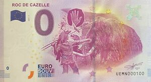 BILLET-0-EURO-ROC-DE-GAZELLE-FRANCE-2017-NUMERO-100