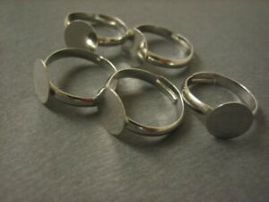 jewelry ring blanks ring blanks,10 Wholesale Antique Bronze Rings,1 inch diameter Rings 5 Holed 5 wires Settings