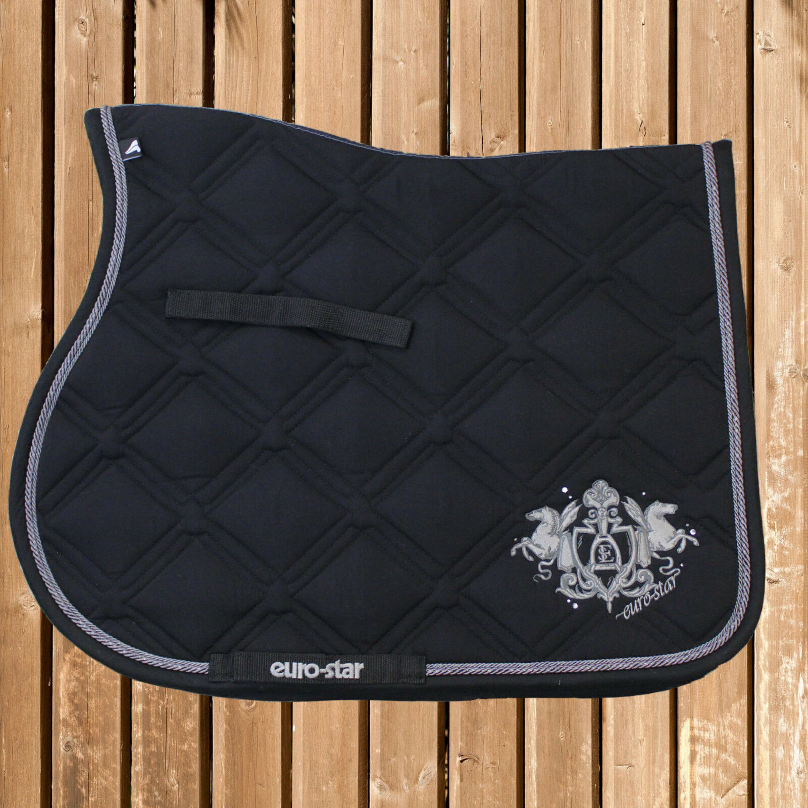 Euro Star Schabracke Excellent 141, schwarz ,Satteldecke, VS, Saddle Pad