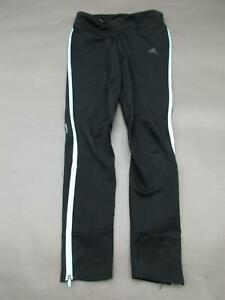 ADIDAS-SIZE-S-WOMENS-BLACK-ATHLETIC-GYM-FITNESS-ANKLE-ZIP-TRACK-PANTS-110