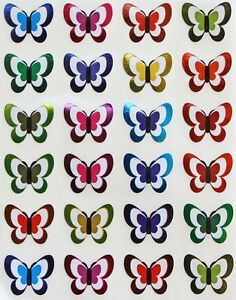 Butterfly Stickers For Kids Metallic Colors Decorative Craft Stickers 240 Pack