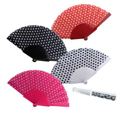 Un éventail tissu blanc Léger rouge ou rose noir discret et très efficace