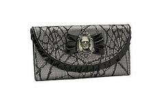 Frankenstein Lace Silver Horror Halloween Rockabilly Rocker Punk Goth Wallet