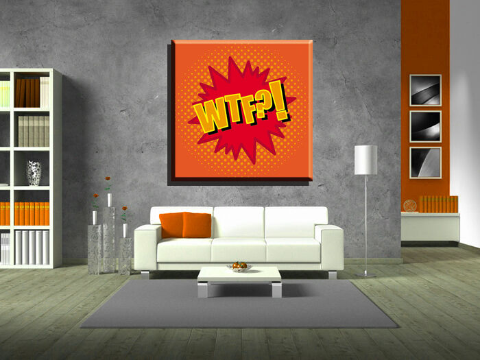 LEINWAND BILD BILDER XXL POP ART WTF COMIC MANGA GRAFFITI ABSTRAKT BIS 130x130