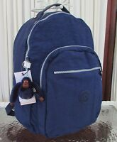 Kipling Seoul Large Backpack Laptop Protection Ink Blue Bp3020