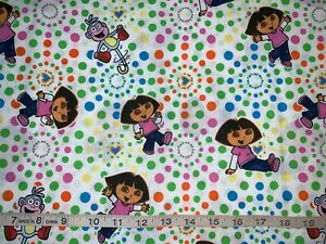 Dora and Boots   100/% cotton fabric