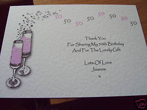 Image Is Loading 5 Personalised Birthday Thank You Cards 18th 21st