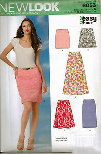 From-UK-Sewing-Pattern-Misses-039-Easy-2-Hour-Skirt-5-Styles-Sizes-8-18-6053