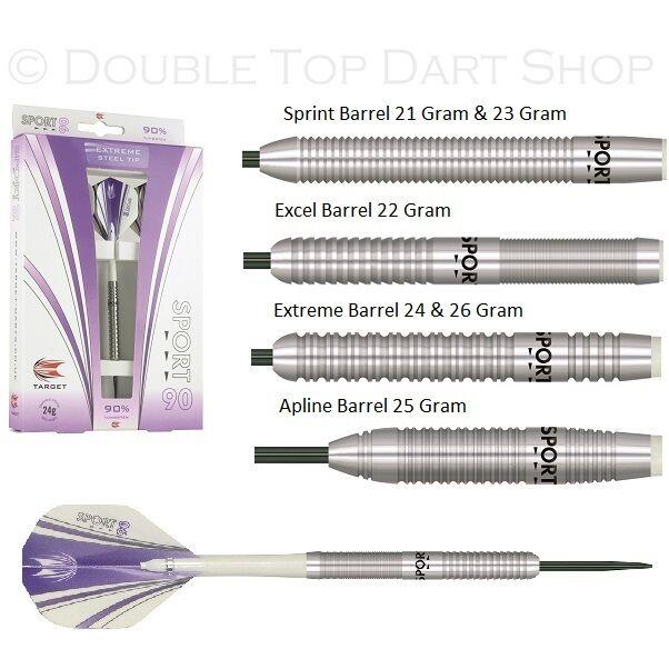 Target Sport 90 90% Tungsten Steel Tip Darts
