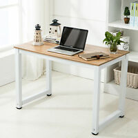 Pc Computer Laptop Table Desk Wood Workstation Study Home Office Furniture