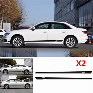 2PCS Universal Car Body Side Stripe Skirt Decal Sticker For Car Vinly Sticker