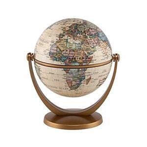 Stella Nova Political Antique Ocean Swivel and Tilt Globe, 4-Inch