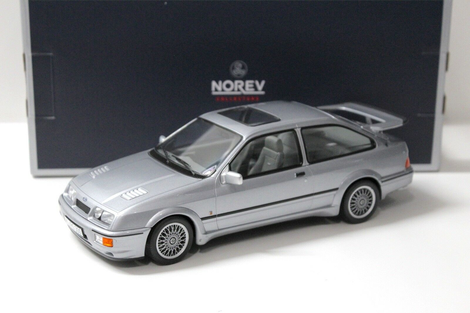 1 18 Norev Ford Sierra RS Cosworth grey-bluee 1986 NEW bei PREMIUM-MODELCARS