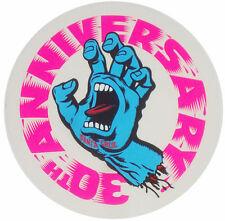 SANTA CRUZ 30th Anniversary Screaming Hand Sticker - Skateboard, Surf, Snowboard