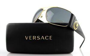 a76993a41934 New Genuine VERSACE Vanitas Medallion Black Gold Grey Sunglasses VE ...