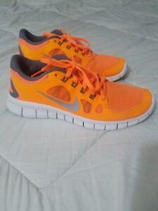 online store 33738 d7f7c Nike Free Run 5.0 Orange size 7 Pristine Condition grey white mesh ...