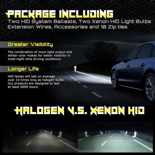 HID Car Lights Charger Silverado Civic F-150 Jetta RSX G35 Xenon Metal Kit