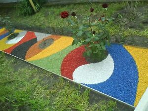 Dekosteine Farbig Außen Garten Deko Kies Gartenkies Zierkies