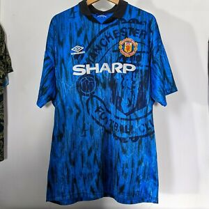 Manchester United Away Football Shirt Umbro 1992-93 - XL - (Maglia Camieseta)