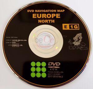 toyota lexus original navigation dvd e1g 2018 north europe nord europa update ebay. Black Bedroom Furniture Sets. Home Design Ideas