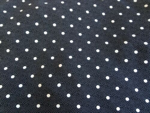 """Polka Dot Spotted Slinky Polyester Dress Fabric 58/"""" wide Black /& White"""