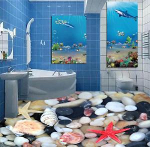 3D Stone Starfish Shell 45 Floor WallPaper Murals Wall Print Decal AJ WALLPAPER